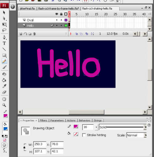 flash text animation software