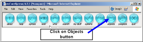 c how to create an object with a button