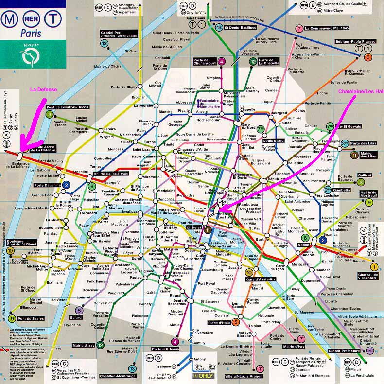 Maps and Hotels in Paris (24-May-1996) Map Of Paris Hotels on