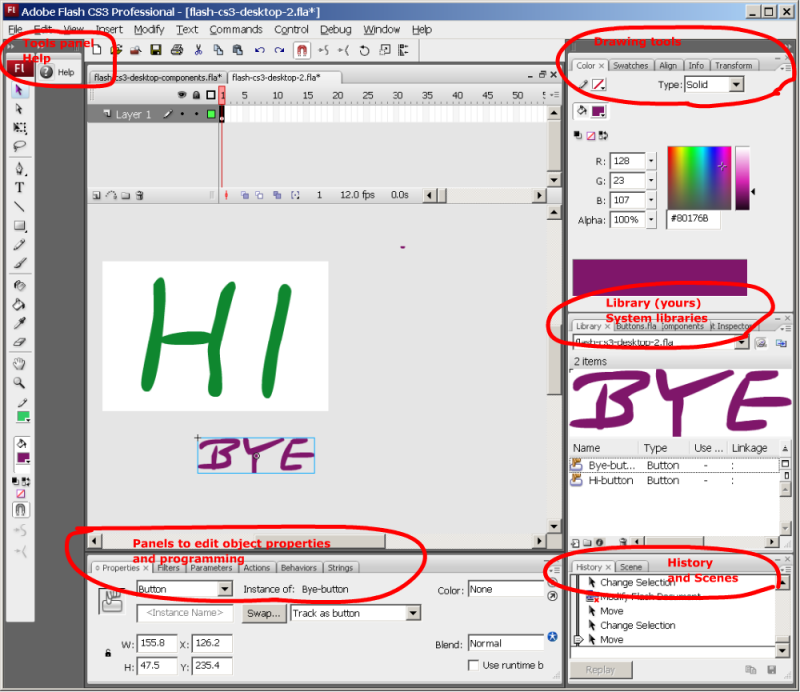 Flash CS3 desktop tutorial